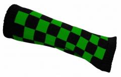 Armstulpen mit schwarz grünem Schachmuster