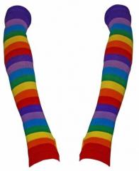 Armwärmer mit Regenbogen Streifen