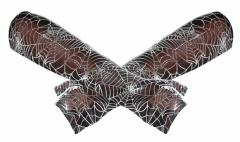 Armwärmer mit Spinnennetz Muster