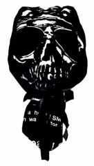 Bandana Cap Black with Skull