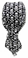 Bandana Kopftuch Totenköpfe mit Knochen