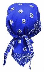 Bandana Kopftuch Blau Weiß Paisley