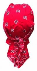 Bandana Kopftuch Rot Weiß Paisley
