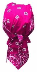 Bandana Kopftuch Rosa Weiß Paisley