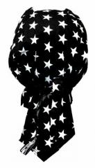 Bandana Kopftuch Schwarz Sterne