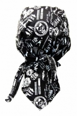 Bandana Cap Skull Typography