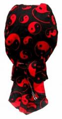 Bandana Kopftuch Schwarz Rot Yin Yang