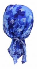 Bandana Kopftuch Blaues Batik Paisley