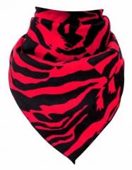 Biker Bandana Halstuch Zebra in Rot