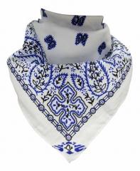 Bandana Halstuch Paisley Weiß Blau