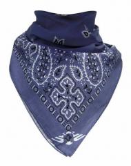 Bandana Halstuch Blau Paisley Muster