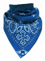 Bandana Halstuch Paisley Blau Weiß