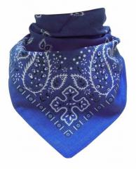 Biker Bandana Halstuch Paisley Muster Blau
