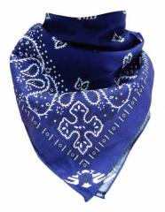 Cooles Bandana Halstuch Paisley Blau