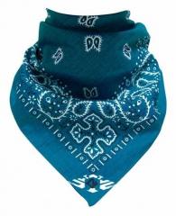 Trendy Bandana Halstuch Paisley Muster Blau