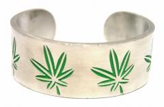 Armspange Cannabis Blatt