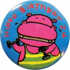 Anstecker Hippo Birthday