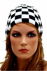 Chessboard Patterned Beanie