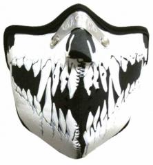 Vampir Zähne Biker Maske