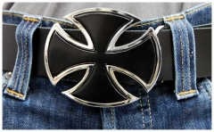 Belt Buckle Black Iron Cross