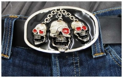 Gürtelschnalle Pirate Skull