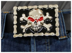 Belt Buckle Skull