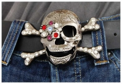 Gürtelschnalle Skull