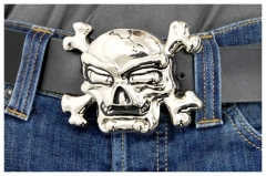 Belt Buckle Broken skull