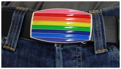 Gürtelschnalle Rainbow