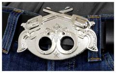 Gürtelschnalle Guns and Handcuffs