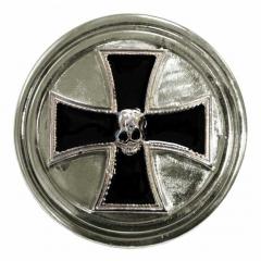 Gürtelschnalle Iron Cross Skull