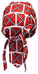 Rot Weiß Kinder Bandana Cap