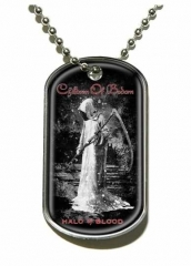 Iron Maiden Eddie Candle Finger Merchandise Dog Tag