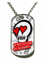 5 Seconds of Summer Skull Merchandise Dog Tag