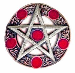 Aufnäher - Pentagramm Rot