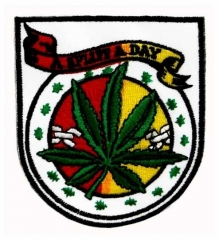 Embroidered Patch - A spliff a day