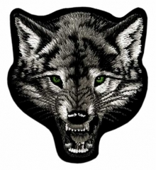 Embroidered Patch - Angry Wolf