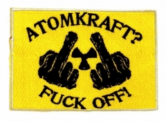 Embroidered Patch - Atomkraft? Fuck Off!