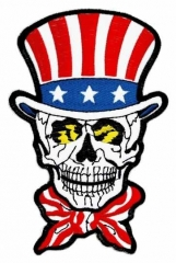 Embroidered Patch - American skull