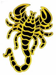 Aufnäher - Gelber Skorpion