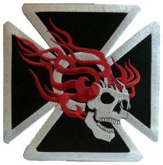 Aufnäher - Flaming Skull