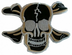 Embroidered Patch - Black Skull