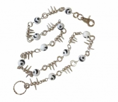 Wallet Chain with White Cross Dices