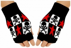 Fingerlose Handschuhe Stars & Skulls