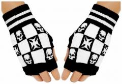 Fingerlose Handschuhe Iron Cross Skulls