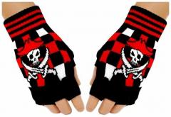 Fingerlose Handschuhe Pirate Skull