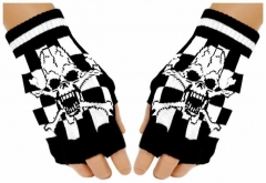 Fingerlose Handschuhe Scream Skull