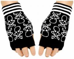 Fingerlose Handschuhe Skulls