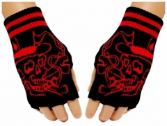Fingerlose Handschuhe Smoking Skull