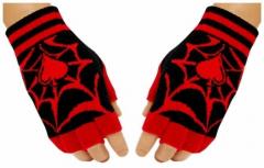 Fingerlose Handschuhe Red Web Ace